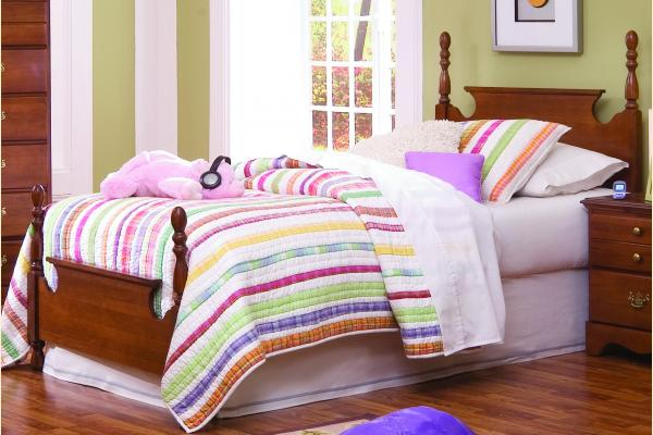 Carolina Furniture Common Sense Cherry Twin Panel Bed