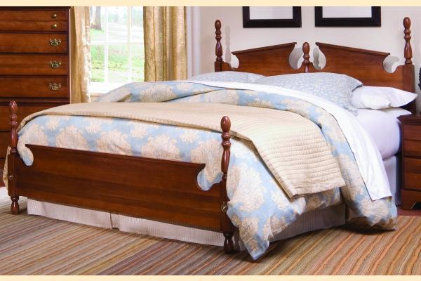 Carolina Furniture Common Sense Cherry Queen Panel Bed