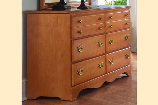 Carolina Furniture Common Sense Maple Double Dresser