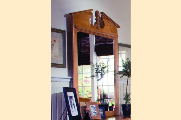 Carolina Furniture Common Sense Maple Vertical Mirror