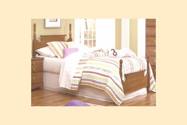Carolina Furniture Common Sense Maple Twin Panel Bed