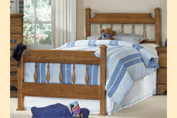 Carolina Furniture Creek Side Twin Spindle Bed