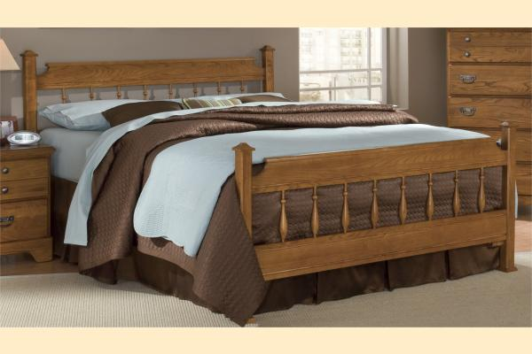 Carolina Furniture Creek Side Queen Spindle Bed