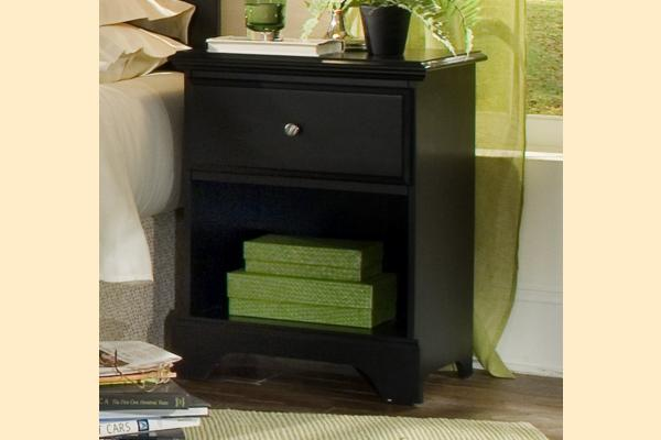 Carolina Furniture Midnight One Drawer Night Stand