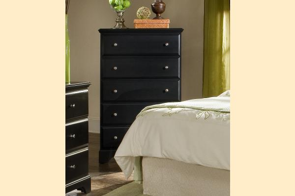Carolina Furniture Midnight Five Drawer Chest