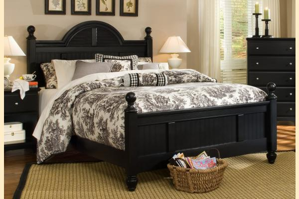 Carolina Furniture Midnight Queen Arched Cottage Bed