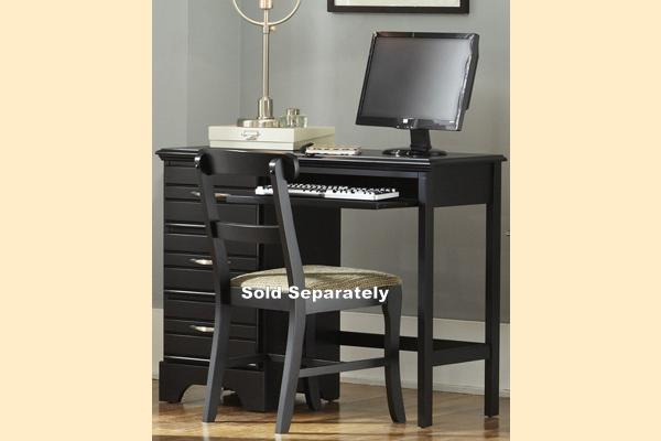Carolina Furniture Platinum Series-Black Computer Desk