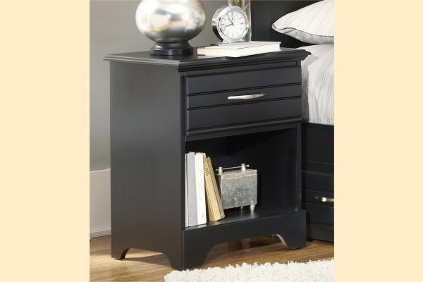 Carolina Furniture Platinum Series-Black Nightstand