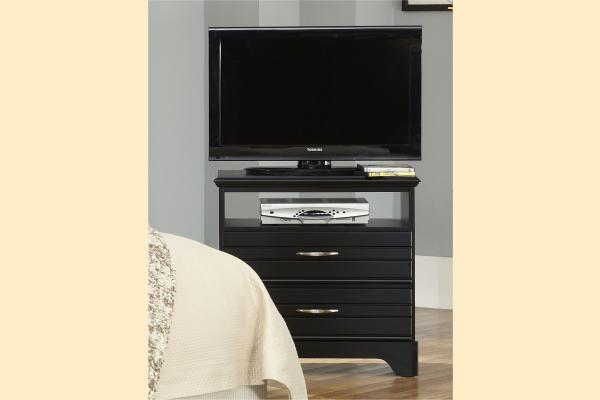 Carolina Furniture Platinum Series-Black 2 Drawer Media Chest