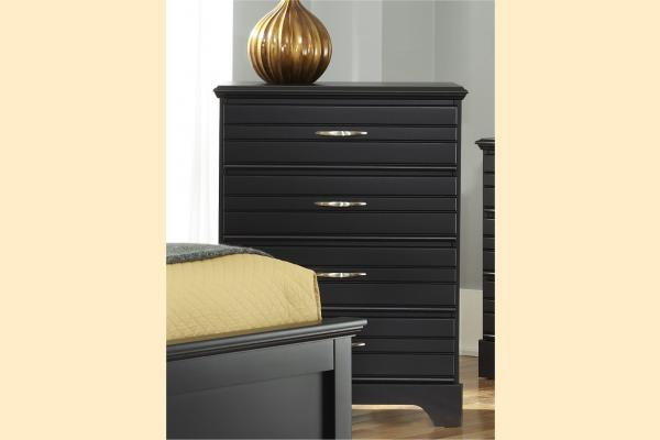 Carolina Furniture Platinum Series-Black 4 Drawer Chest