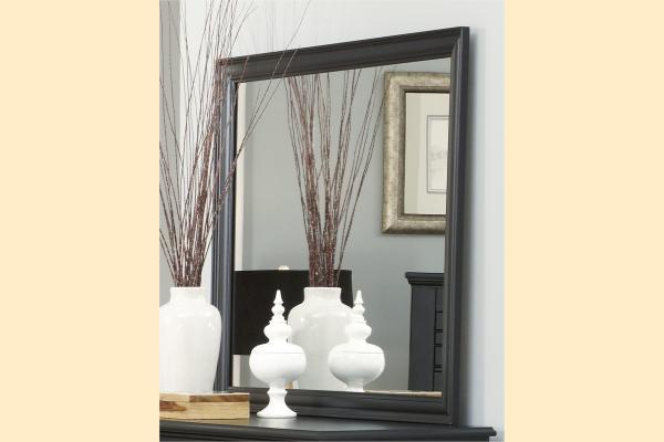 Carolina Furniture Platinum Series-Black Landscape Mirror