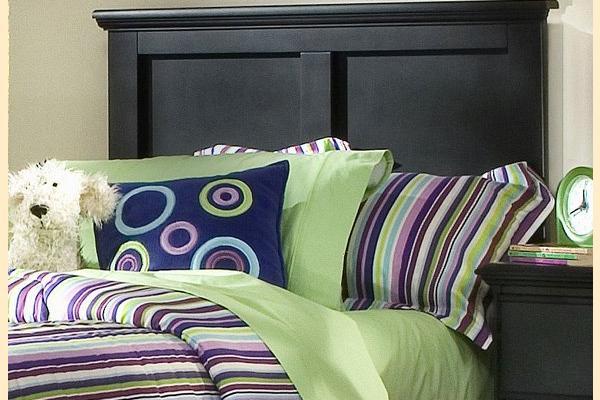 Carolina Furniture Platinum Series-Black Twin Panel Headboard and Frame