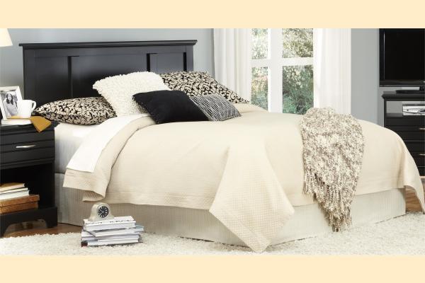 Carolina Furniture Platinum Series-Black Full/Queen Panel Headboard and Frame