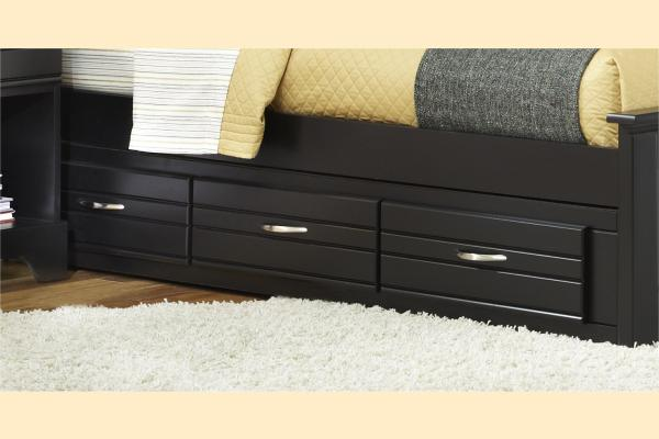 Carolina Furniture Platinum Series-Black Twin/Full Storage Unit