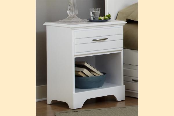 Carolina Furniture Platinum Series-White Nightstand