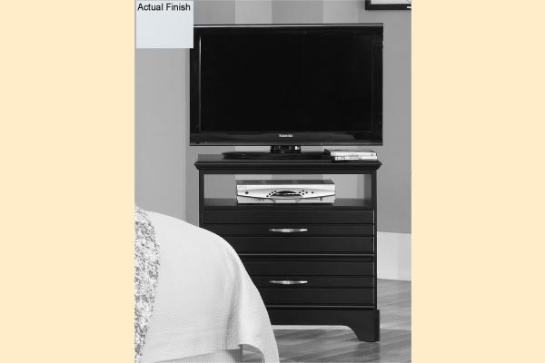 Carolina Furniture Platinum Series-White 2 Drawer Media Chest