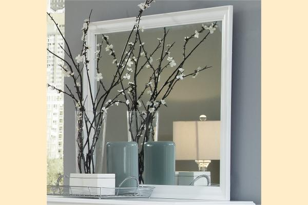 Carolina Furniture Platinum Series-White Landscape Mirror