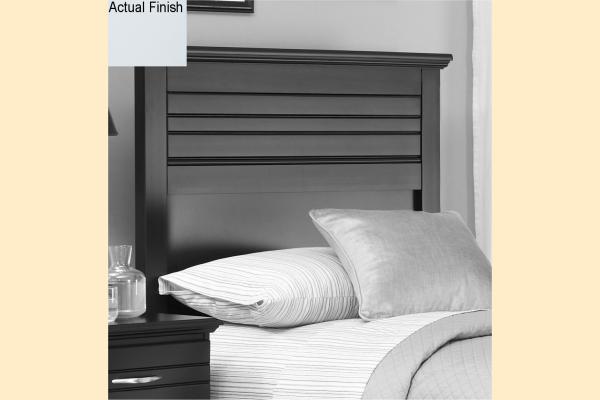 Carolina Furniture Platinum Series-White Twin Panel Headboard and Frame