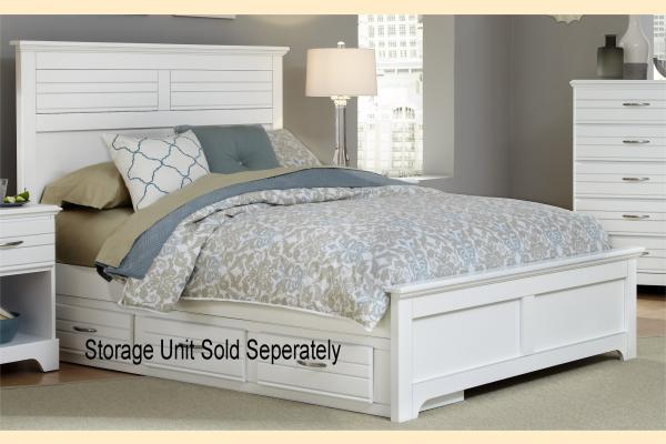 Carolina Furniture Platinum Series-White King Panel Bed