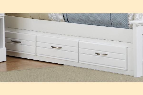 Carolina Furniture Platinum Series-White Queen/King Storage Unit