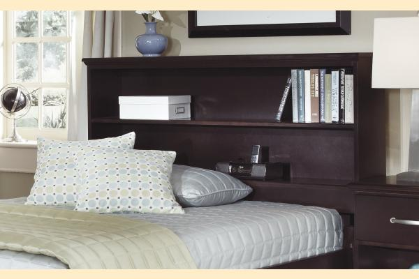 Carolina Furniture Signature Series Twin Bookcase Bed w/ One Sided Storage