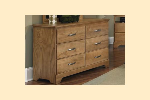 Carolina Furniture Sterling Double Dresser 6 Drawers