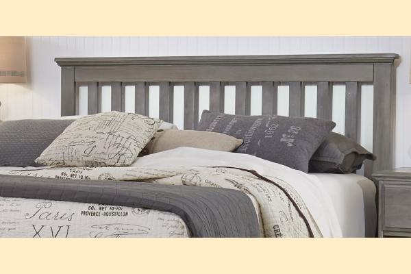 Carolina Furniture Vintage Series King Slat Headboard with Bed Frame
