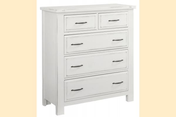 VB Artisan & Post  Maple Road-Chalky White 5 Drawer Chest