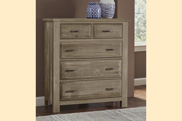 VB Artisan & Post  Maple Road-Weathered Gray 5 Drawer Chest