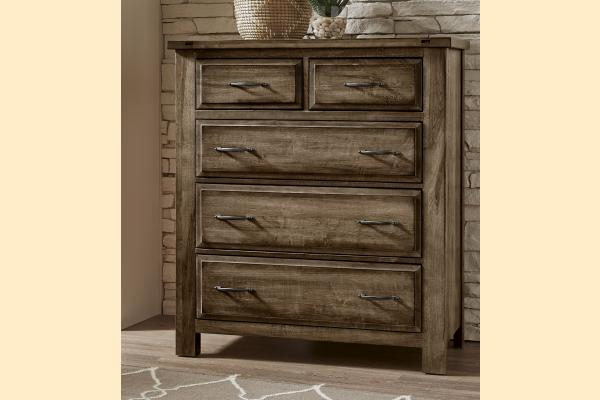 VB Artisan & Post  Maple Road-Maple Syrup 5 Drawer Chest