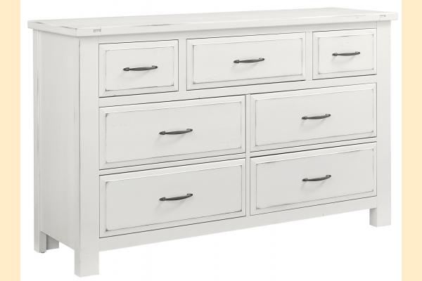 VB Artisan & Post  Maple Road-Chalky White Triple Dresser