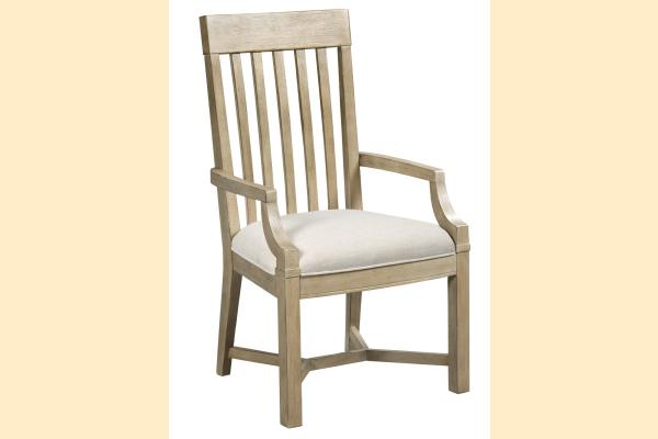 American Drew Litchfield James Arm Chair-Driftwood