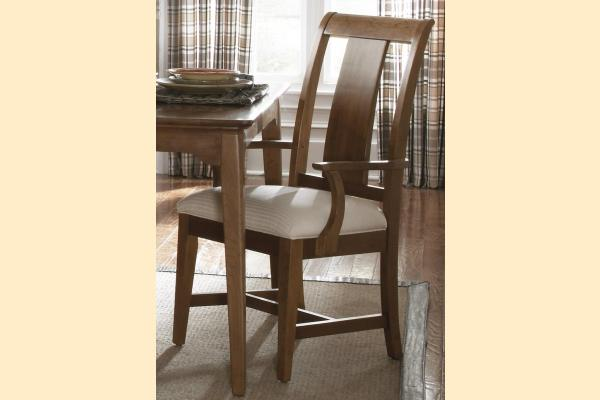 Kincaid Cherry Park Slat Wood Back Arm Chair