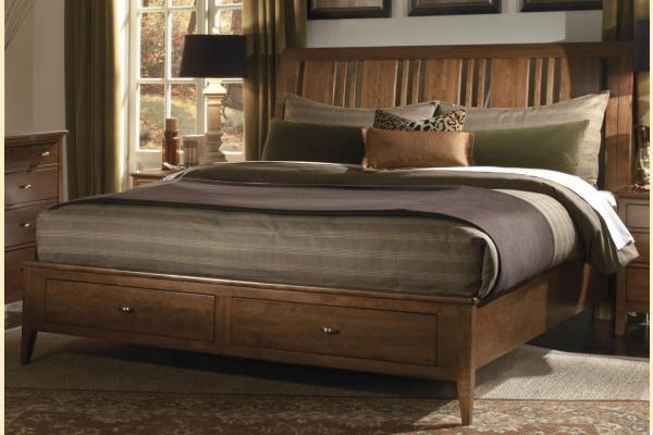 Kincaid Cherry Park King Sleigh Storage Bed