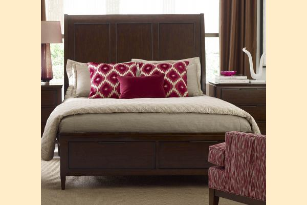 Kincaid Elise Queen Caris Sleigh Storage Bed