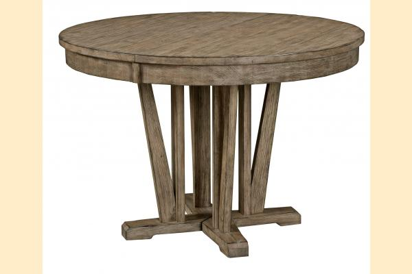 Kincaid Foundry Round Dining Table w/ one 20 Inch Leaf