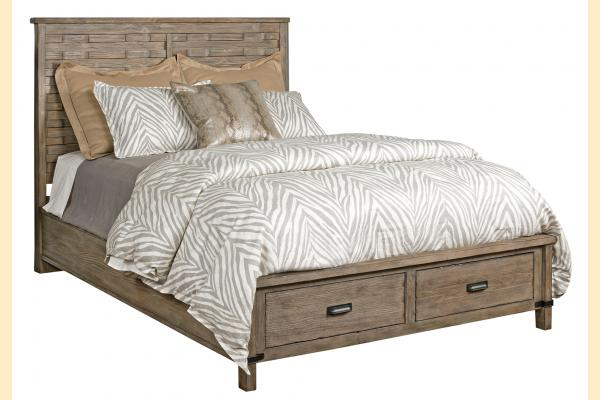 Kincaid Foundry King Panel Bed w/ Storage Footboard