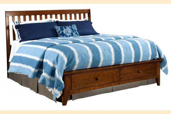 Kincaid Gatherings-Cinnamon King Slat Storage Bed