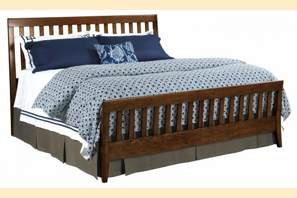 Kincaid Gatherings-Cinnamon Cal-King Slat Bed