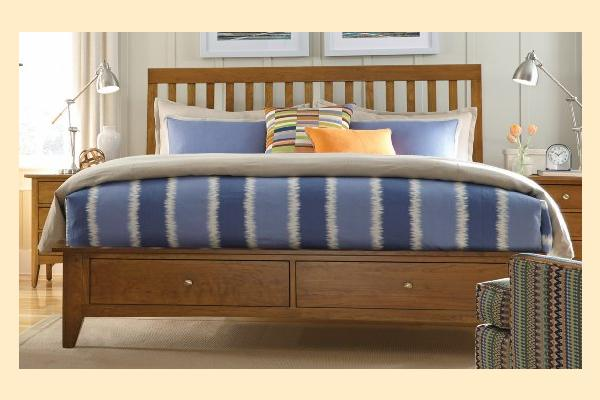 Kincaid Gatherings-Honey King Slat Storage Bed