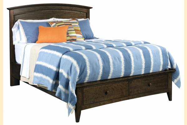 Kincaid Gatherings-Molasses King Arch Storage Bed