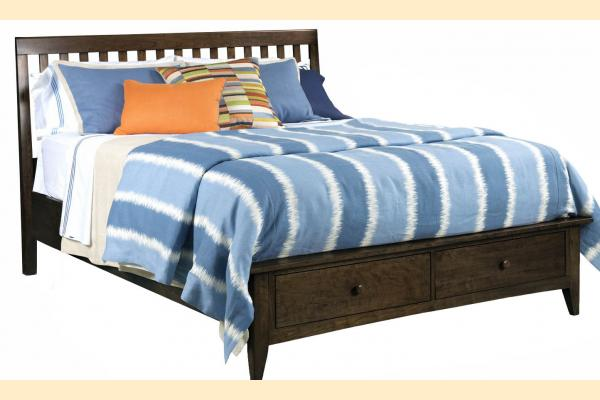 Kincaid Gatherings-Molasses King Slat Storage Bed