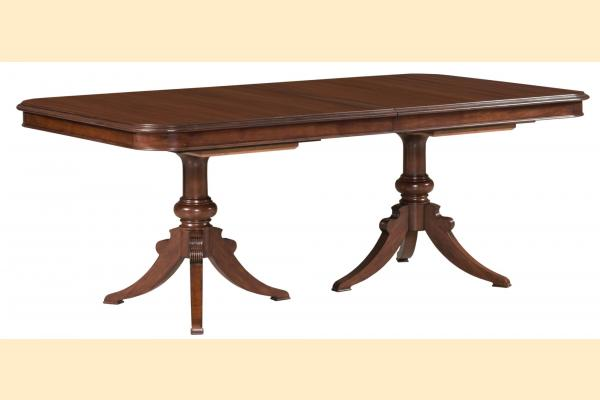Kincaid Hadleigh Double Pedestal Dining Table w/ Two 20