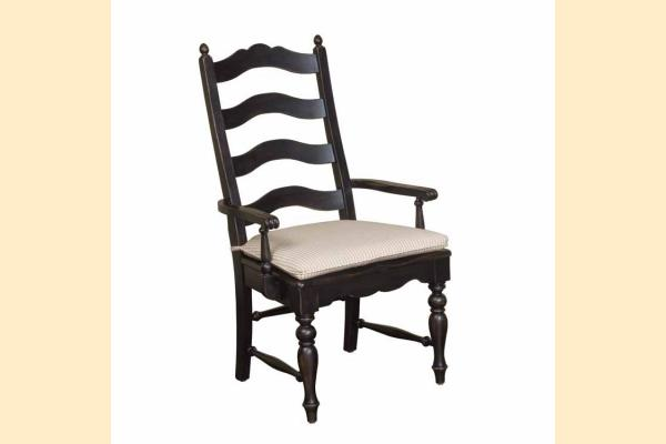 Kincaid Homecoming-Vintage Pine Ladderback Arm Chair-Black
