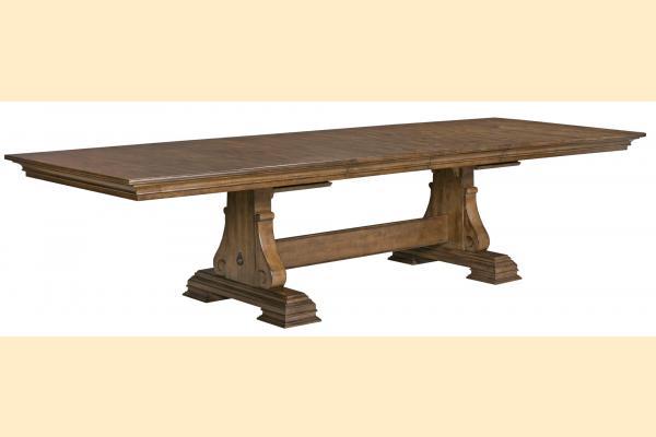 Kincaid Portolone Rectangular Trestle Table w/ Two 20