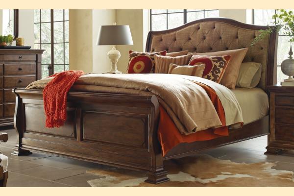 Kincaid Portolone Cal-King Herringbone Sleigh Bed