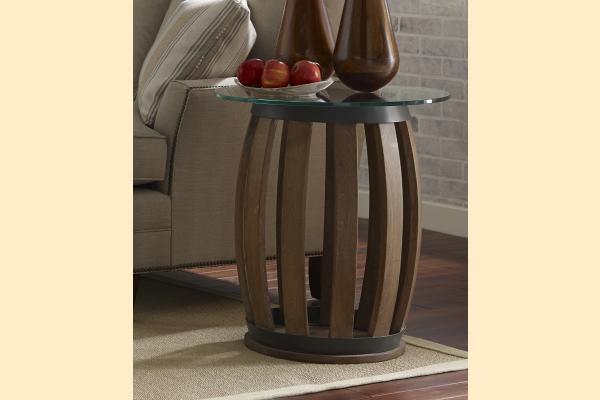 Kincaid Stone Ridge Wine Barrel Accent Table