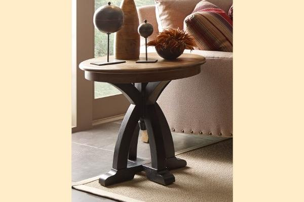 Kincaid Stone Ridge Round Wood End Table