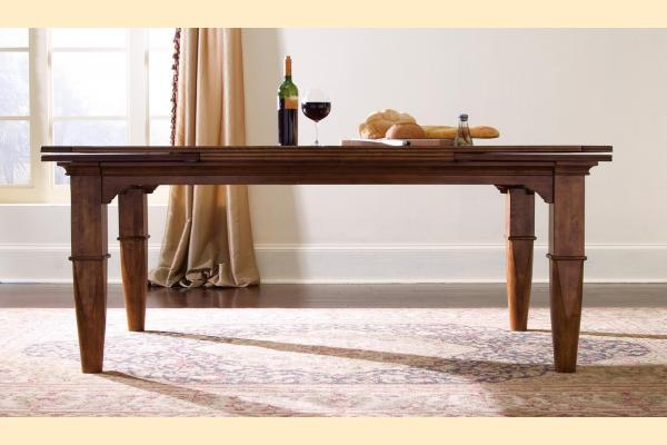 Kincaid Tuscano Refectory Table Includes Two Self-storing 20