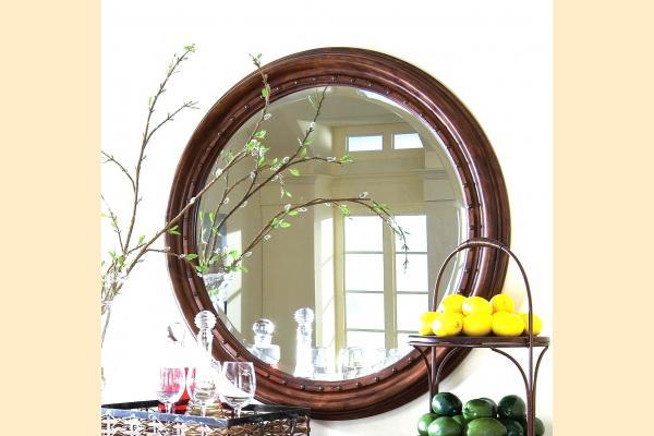 Kincaid Tuscano Round Mirror w/ Nail Head Trim